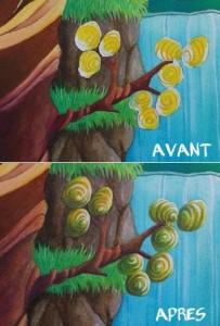 détail pompons de l'arbre oquecebo