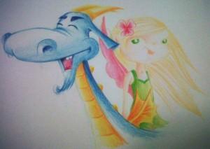 cedrine la fée et le dragon