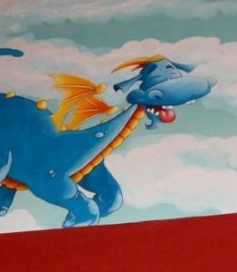 dragon qui pète en couleur