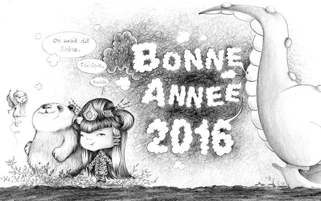 carte Bonne année 2016 foogy et zanapaFB