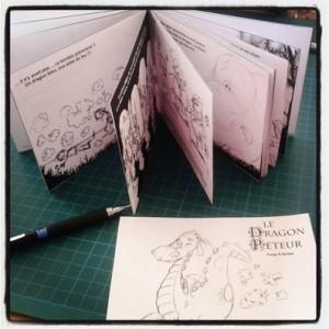 mini livre maquette dragon