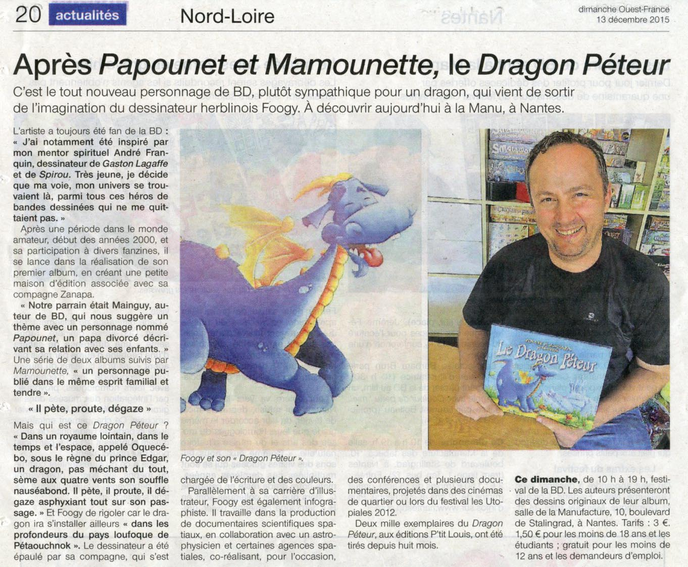 article dragon péteur