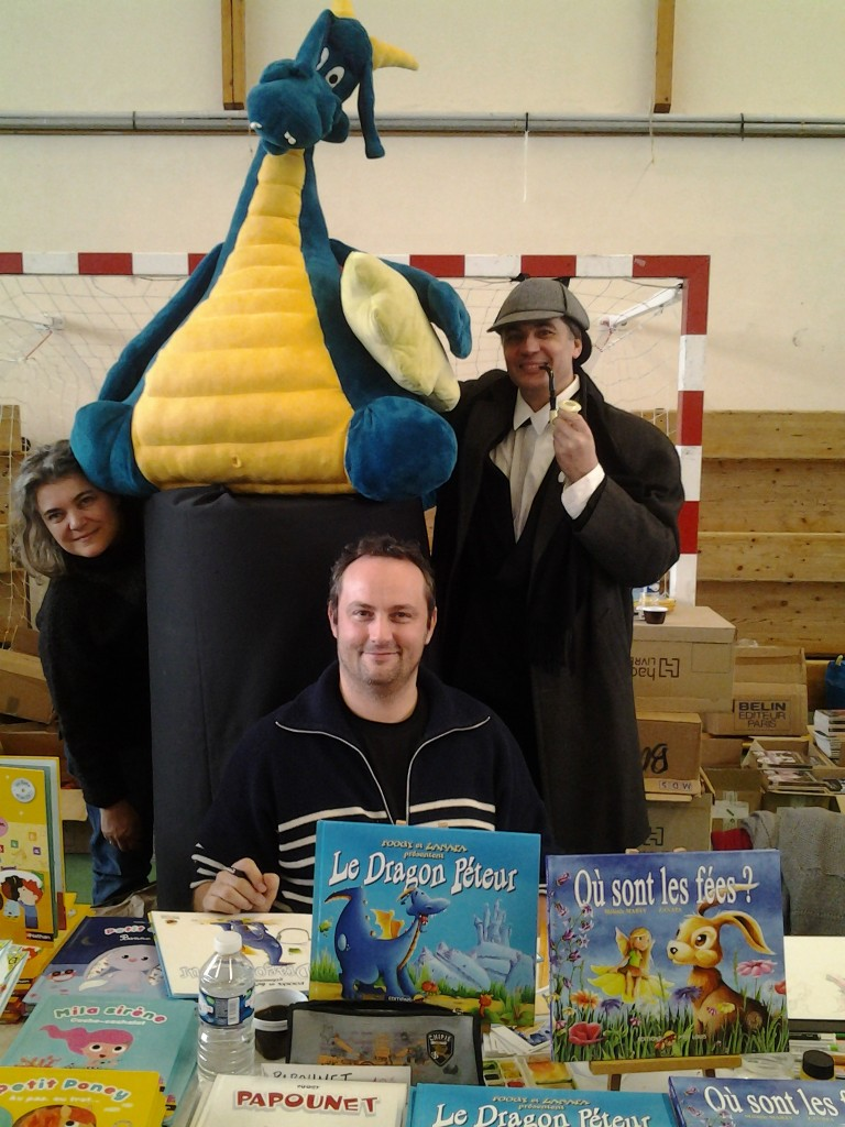 Les Auteurs du Dragon Péteur ont rencontrés Sherlock Holmes aka Bruno Bertin, auteur de Vick et Vicky