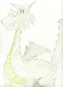 dessin dragon servaneFB